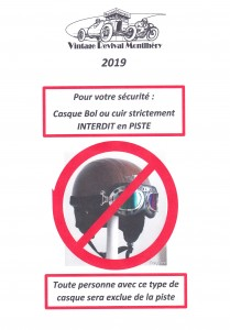 Casque interdit 2019