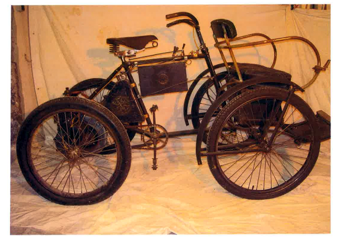 CLEMENT Quadricycle 1HP 3-4 1899 ( Fr ) MOREAU PASCAL
