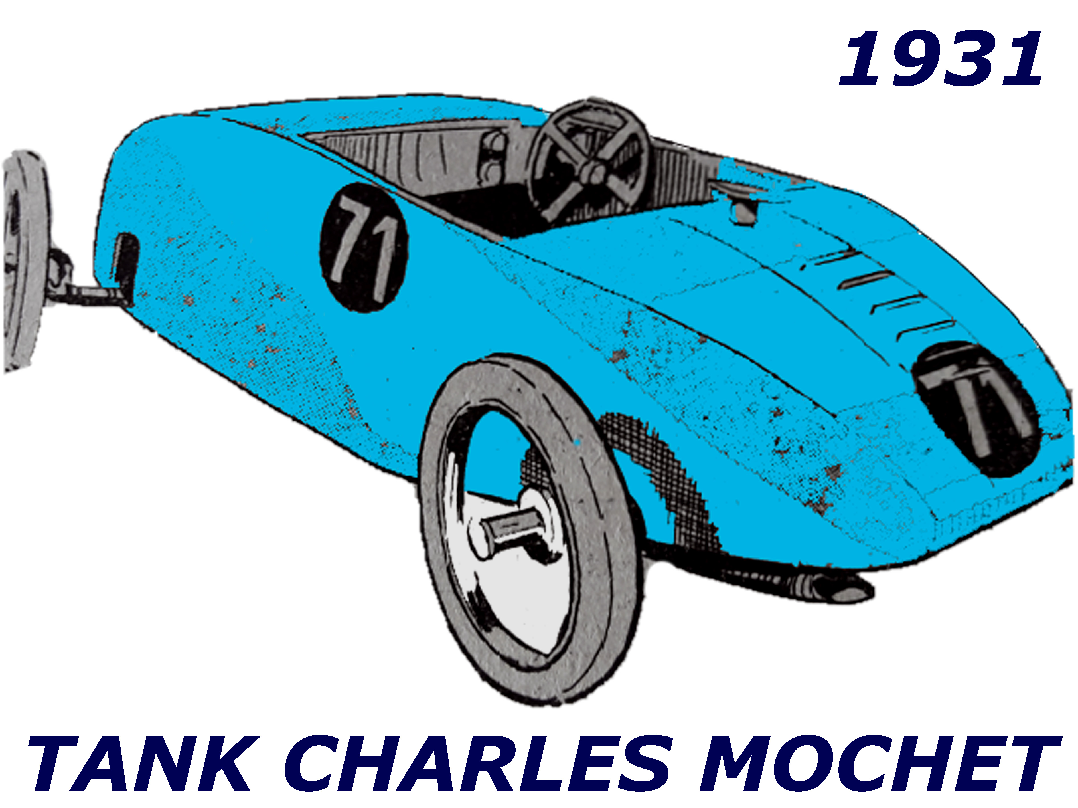 TANK CHARLES MOCHET 125cc 1931 ( FR ) DORME PHILIPPE
